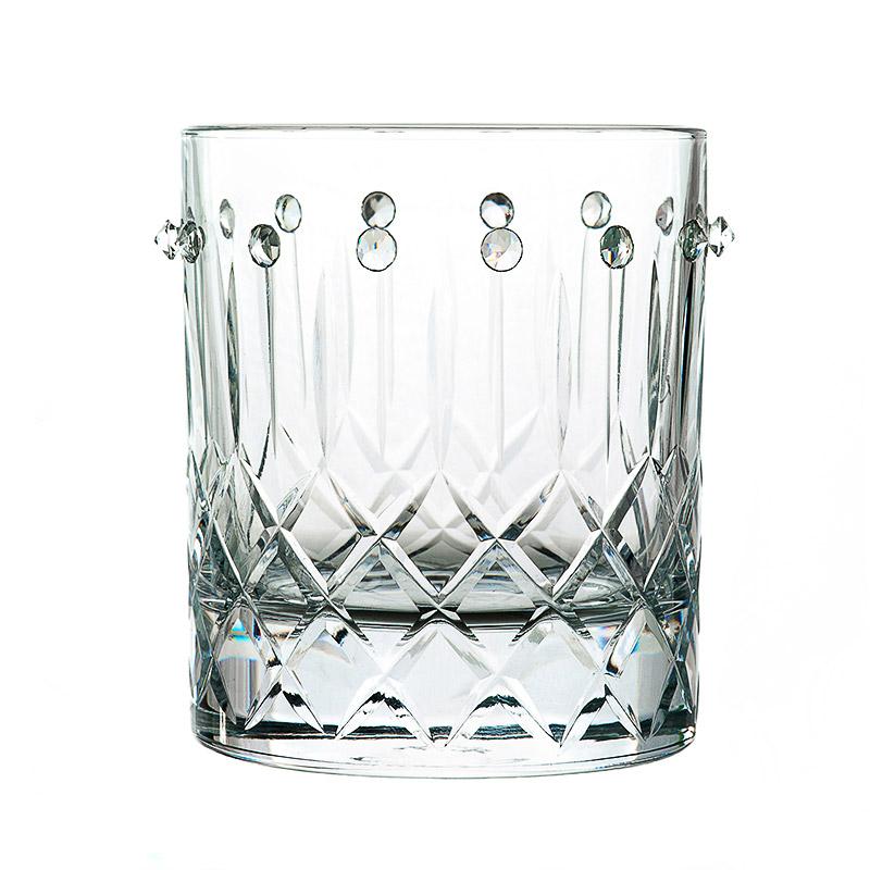 Bicchieri da whisky con swarovski piatti adriano for Bicchieri cristallo