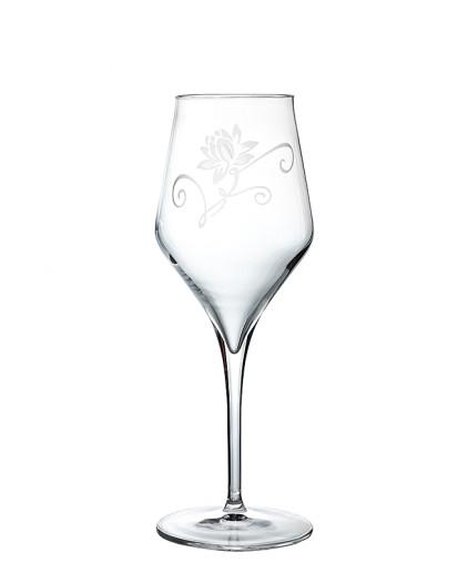 Calici vino bianco degustazione