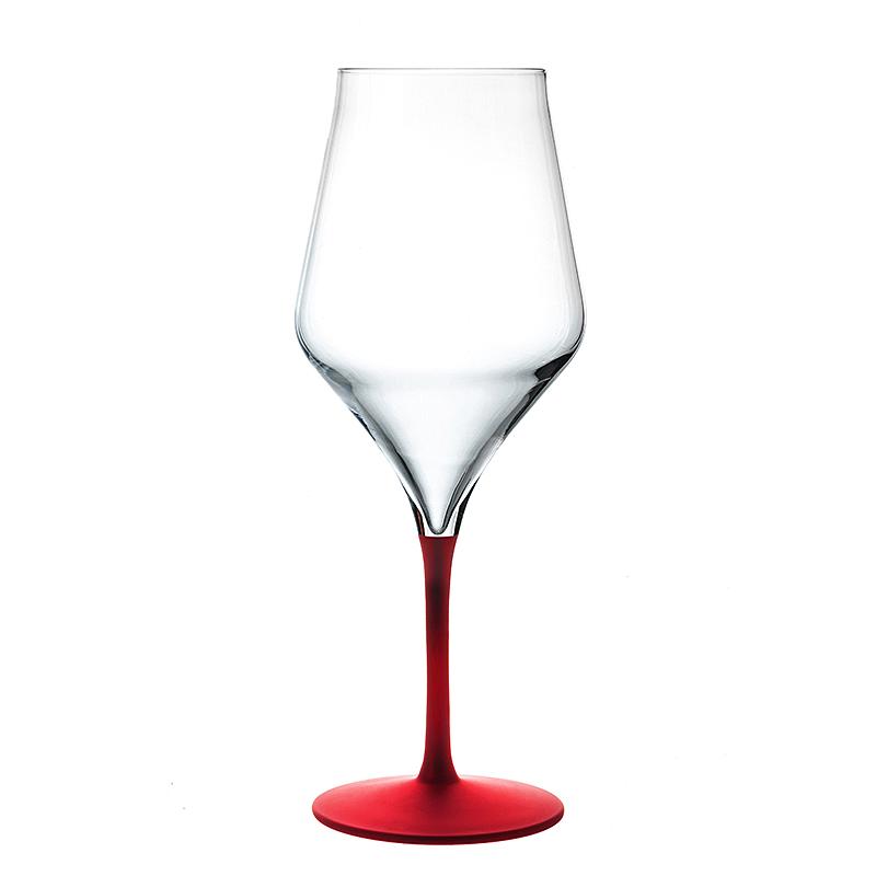 Bicchieri da vino rosso in cristallo piatti adriano for Piatti e bicchieri colorati