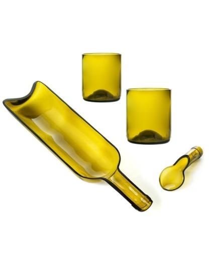 #Recycling Set Vassoio, Cucchiaio e due Bicchieri